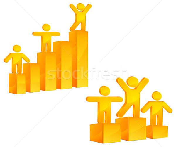 люди диаграмма растущий бизнеса человека человек Сток-фото © creatOR76