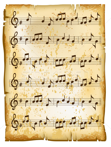 Old music sheet  Stock photo © creatOR76