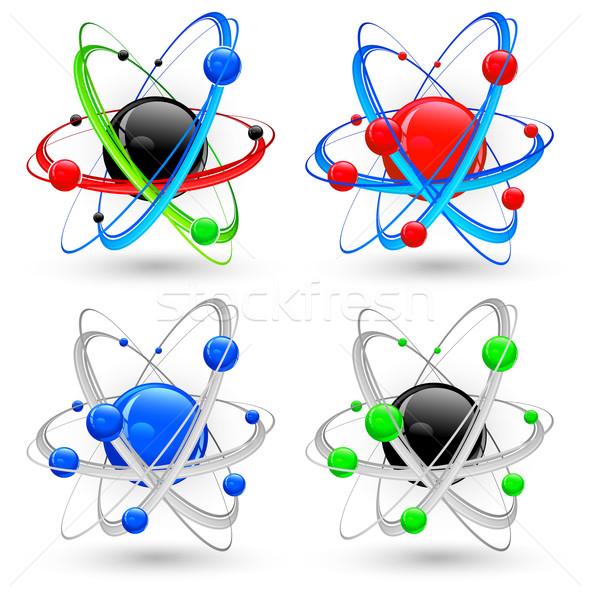 Atom variáció szín központi nukleusz különböző Stock fotó © creatOR76