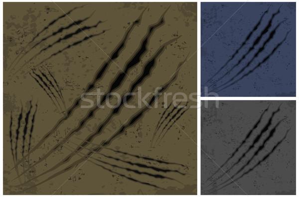 Pençe kahverengi renk hayvan arka yırtılmış Stok fotoğraf © creatOR76