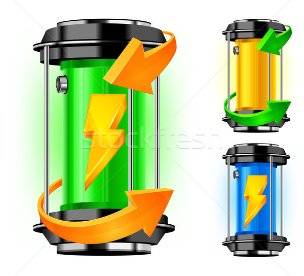 Cylinder of alternative energy Stock photo © creatOR76