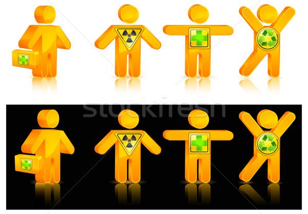 Zdjęcia stock: Ludzi · ikona · inny · niebezpieczeństwo · muzyka · piersi