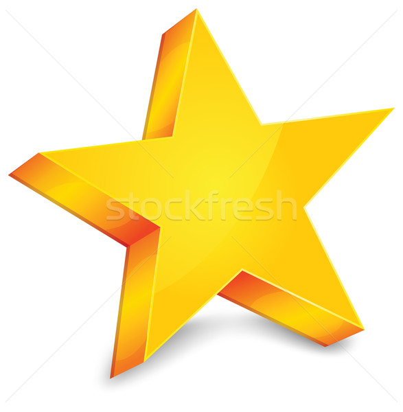 Gold star Stock photo © creatOR76