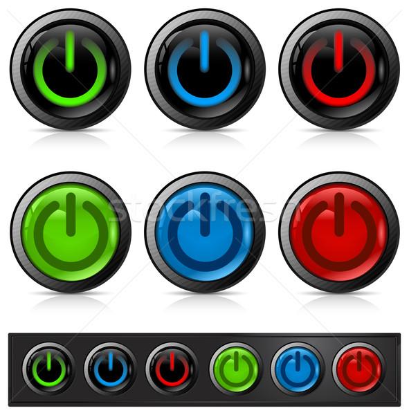 Power button icon Stock photo © creatOR76
