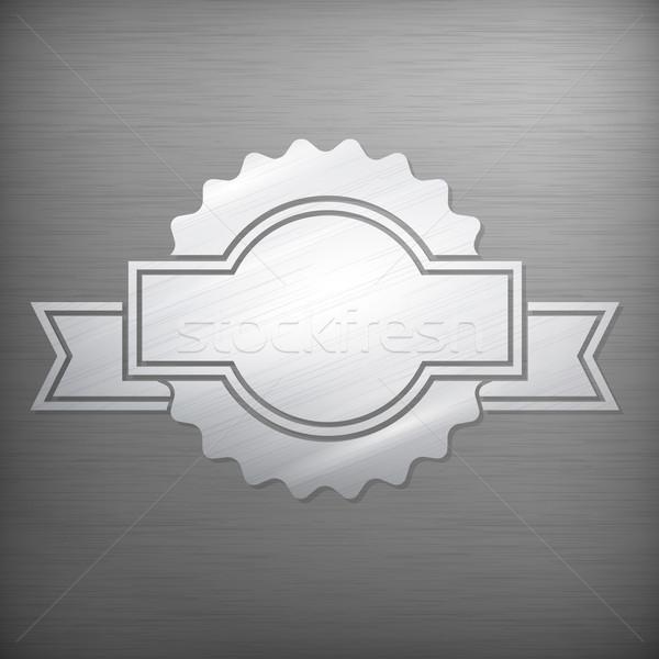Metallic award sign on grey  Stock photo © creatOR76