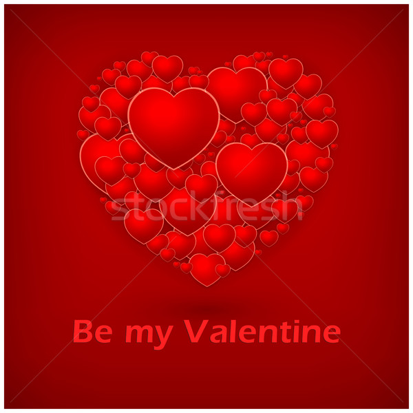 Valentine's Day red heart  Stock photo © creatOR76