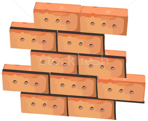 Wall from bricks Stock photo © creatOR76