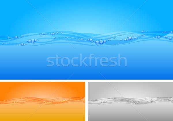 Víz gyönyörű buborékok hullámok absztrakt egészség Stock fotó © creatOR76