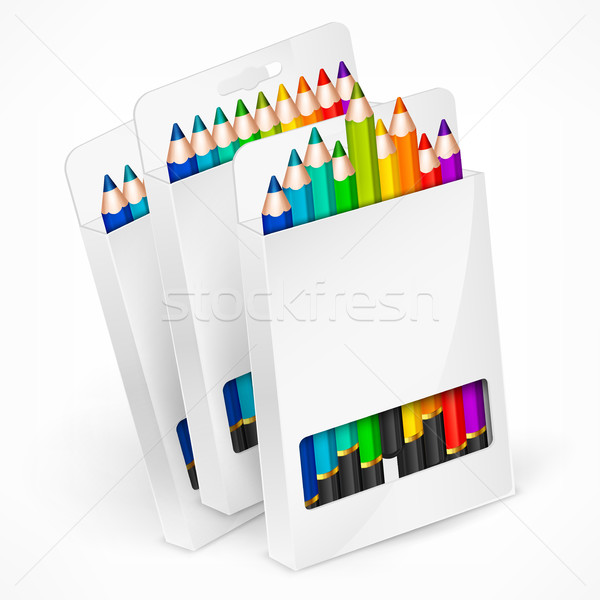 Pencil boxes Stock photo © creatOR76