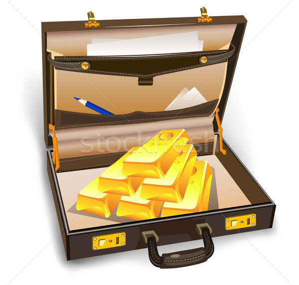 Case with gold Stock photo © creatOR76