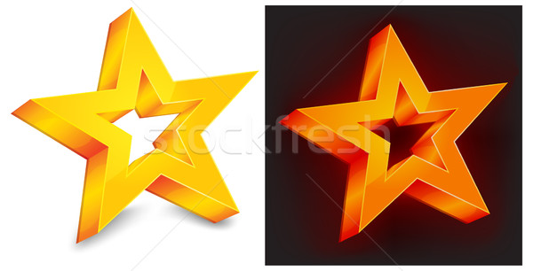 Two gold star Stock photo © creatOR76