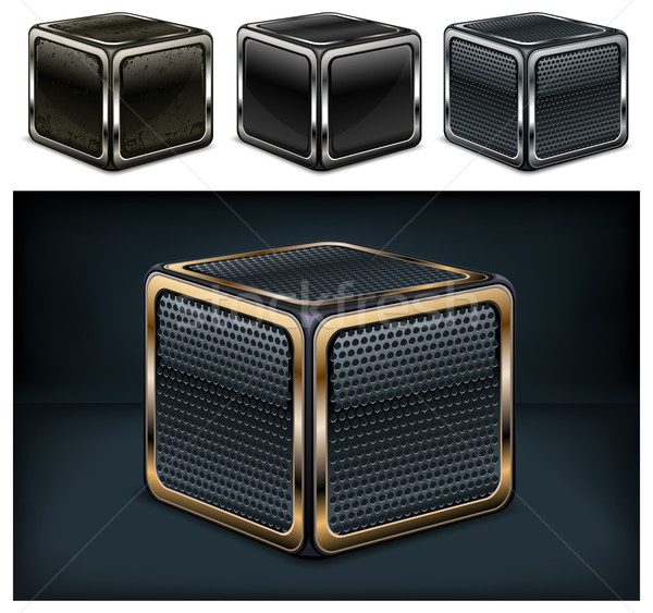 Metal cube Stock photo © creatOR76