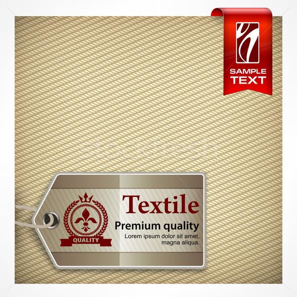 Label on textile Stock photo © creatOR76