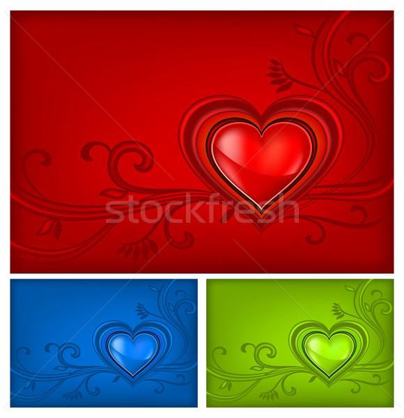 Three-colored valentine background  Stock photo © creatOR76