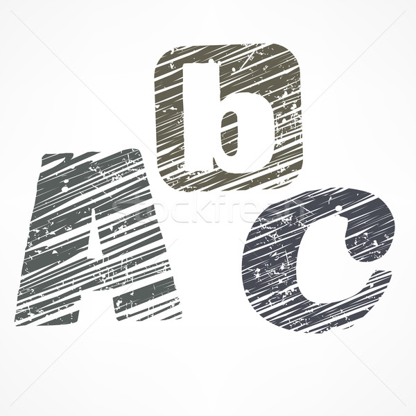 A B C letters  Stock photo © creatOR76