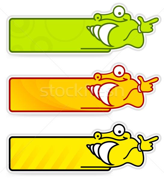 Escargot vignette couleur autocollants étiquettes Photo stock © creatOR76