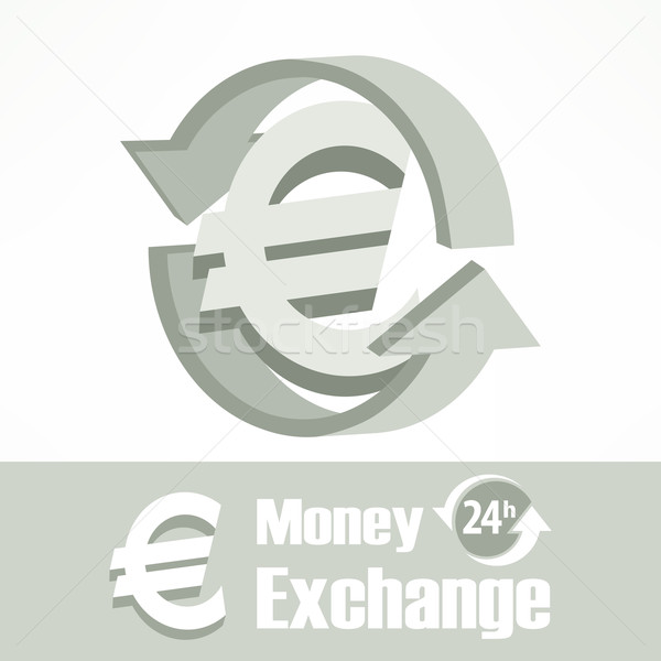 Euro symbol in grey Stock photo © creatOR76