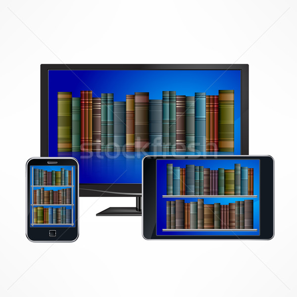 Electronic library devices Stock photo © creatOR76