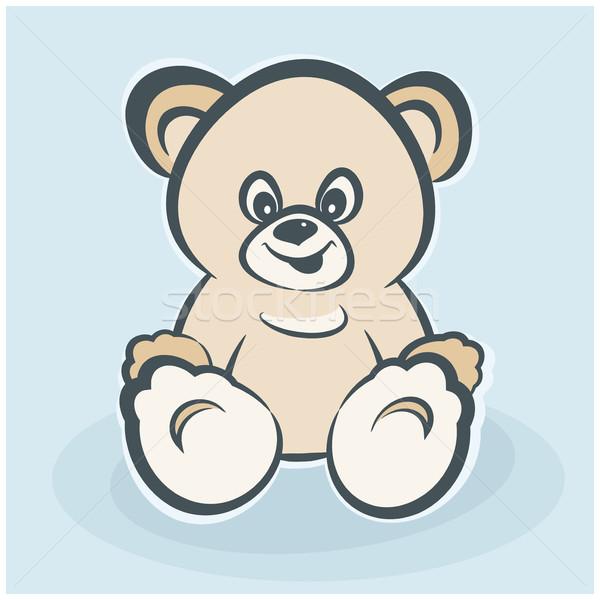 Plüssmaci játék mosolyog medve boldogság gyermekkor Stock fotó © creatOR76