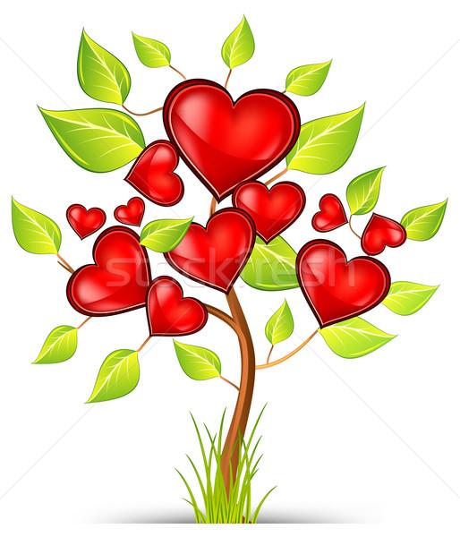 árvore corações vermelho belo valentine Foto stock © creatOR76