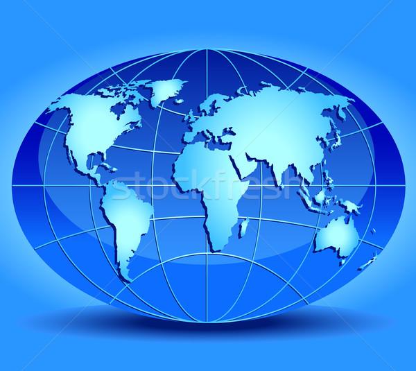 Model of globe  Stock photo © creatOR76