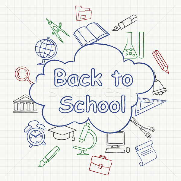 Freehand school illustration color Stock photo © creatOR76