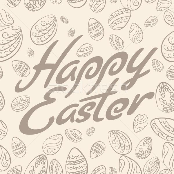 Pascua patrón pastel huevos de Pascua huevos primavera Foto stock © creatOR76