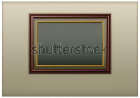 木製 フレームワーク アンティーク 画像 壁 背景 ストックフォト © creatOR76