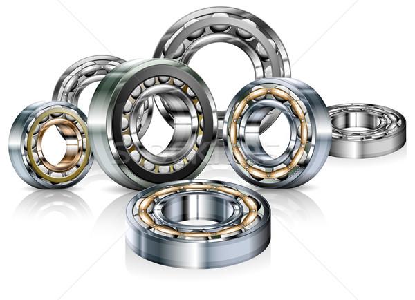 Metal bearings on white Stock photo © creatOR76