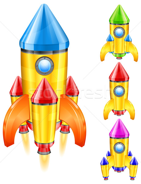 retro rocket Stock photo © creatOR76