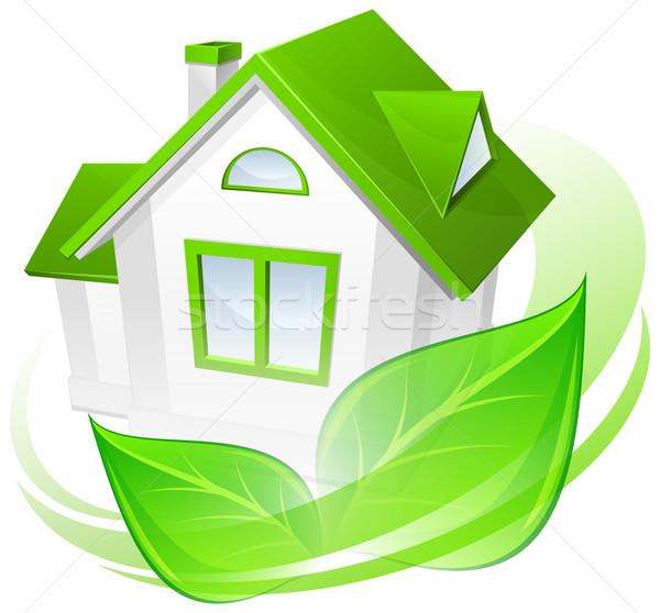 Környezet ház ökológia védelem modell zöld Stock fotó © creatOR76