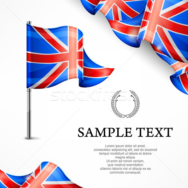 British flag & banners with text Stock photo © creatOR76