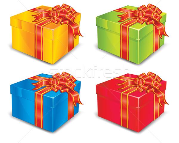 Four boxes Stock photo © creatOR76
