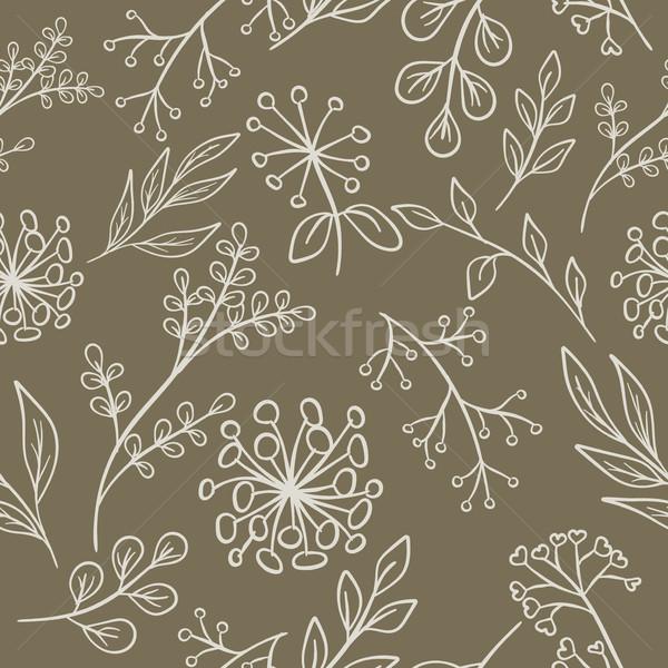 Floral pattern grange seamless Stock photo © creatOR76