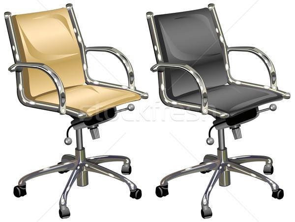 Pelle capo boss bianco illustrazione business Foto d'archivio © creatOR76
