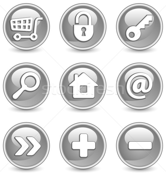 Icons in black Stock photo © creatOR76