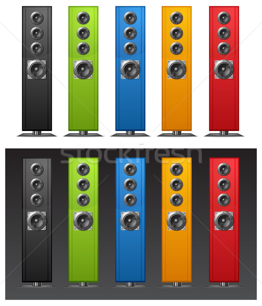 Color speakers  Stock photo © creatOR76
