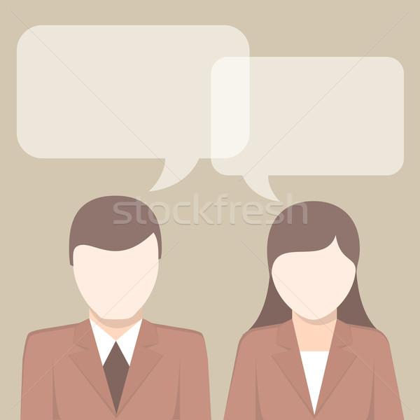 Businessmen have ideas on heads Stock photo © creatOR76