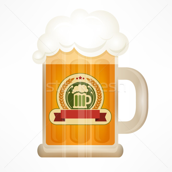 Light beer in glass mug Stock photo © creatOR76