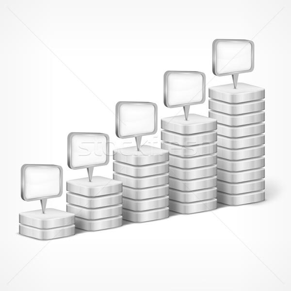 Indication elements on white Stock photo © creatOR76