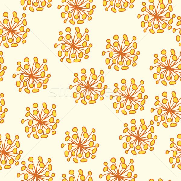 Sem costura flor amarela padrão pastel moda Foto stock © creatOR76
