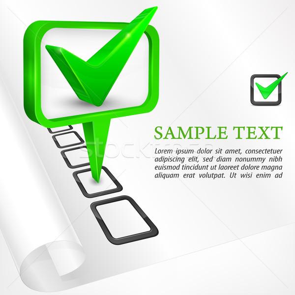 Stock fotó: Csekk · osztályzat · zöld · fehér · számítógép · papír