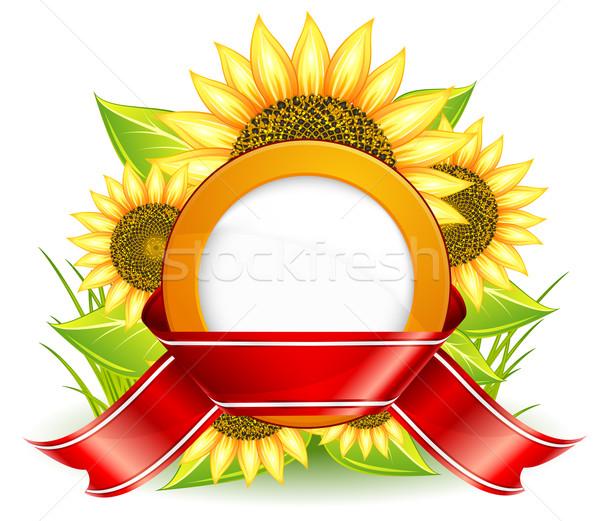 sunflowers and ribbon Stock photo © creatOR76