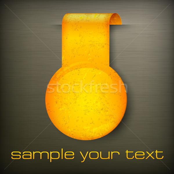 Paper sticker Stock photo © creatOR76
