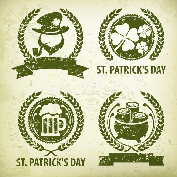 St. Patrick`s Day symbols grange Stock photo © creatOR76