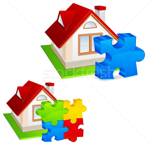 House with puzzles Stock photo © creatOR76