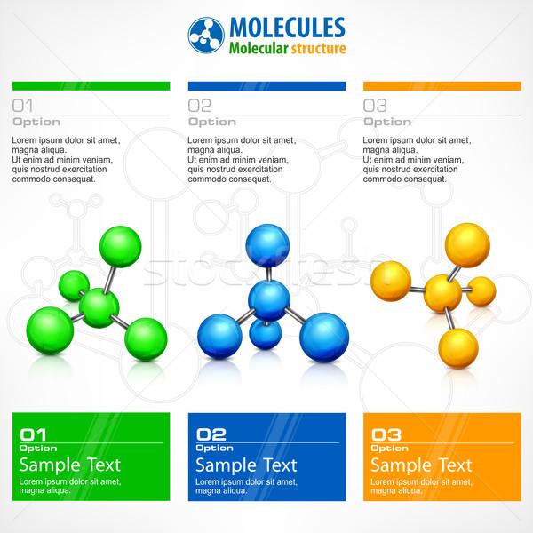 Poster moleküler metin iş takım çalışması Stok fotoğraf © creatOR76