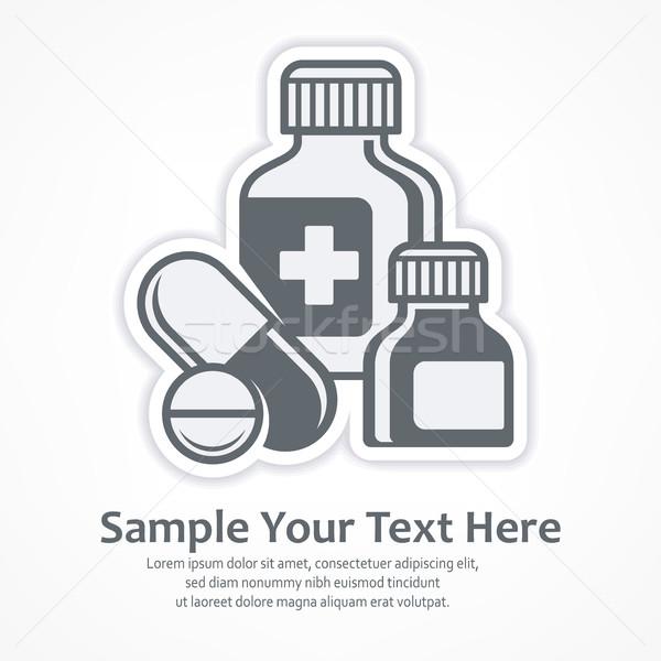Medicines pills symbols Stock photo © creatOR76