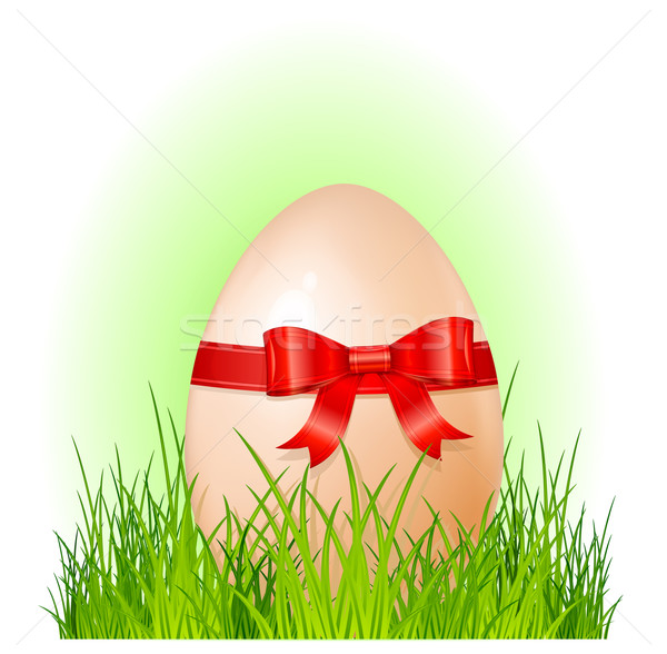 easter big egg with bow Stock photo © creatOR76