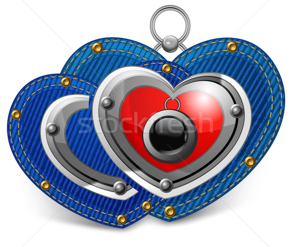 Stock photo: Two jewelry hearts